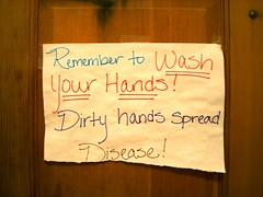 memories of that that damn, dirty ape comment came flooding back. (Esther17) Tags: sign bathroom always conveniencestore sonoita washyourhands damndirtyape