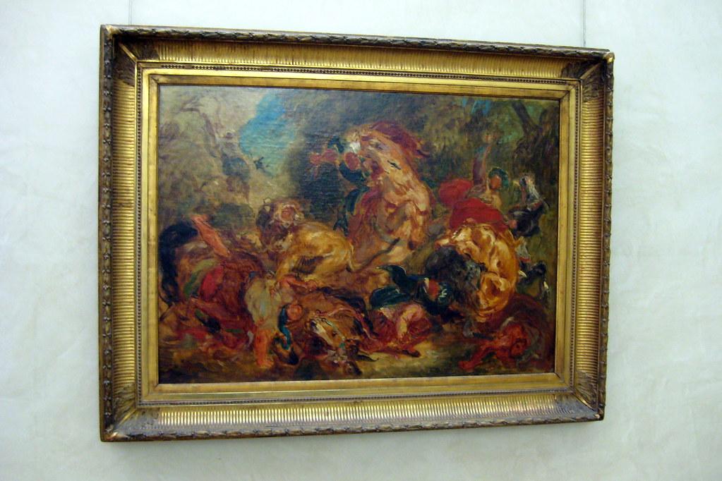 Paris - Musée d'Orsay: Eugène Delacroix's Chasse aux lions