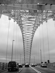 Runcorn Bridge (John Willoughby) Tags: bw photo runcornbridge silverjubileebridge runcornwidnesbridge