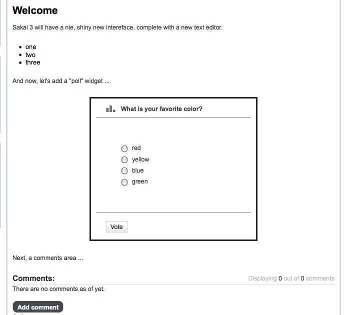poll widget student widget