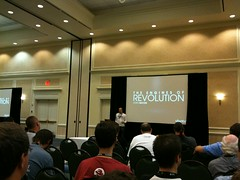 Jono Bacon speaking at a Linux Conference