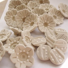 Day 8 --- Creating 365 (ginpins) Tags: ceramics pottery porcelain crafting handmadebuttons