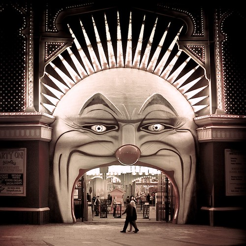 cuba gallery: australia / melbourne / luna park / circus / retro / vintage / people / fun / scary / sepia / photography by cuba gallery - now on twitter!