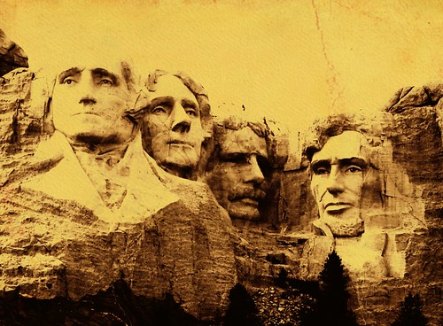 Old timey Rushmore