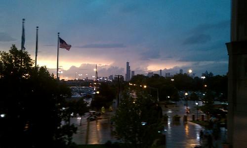 chicago white sox skyline. Chicago Skyline post storm
