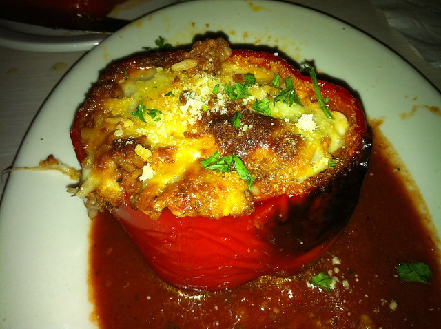 Stuffed red pepper from Lavoro's Italian Restaurant