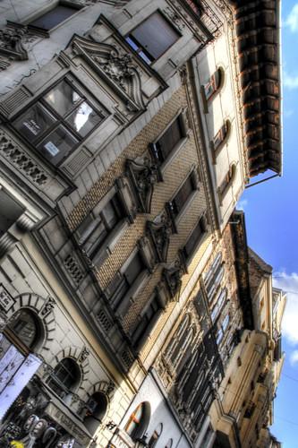 Váci Street building. Budapest. Edificios de la calle Váci