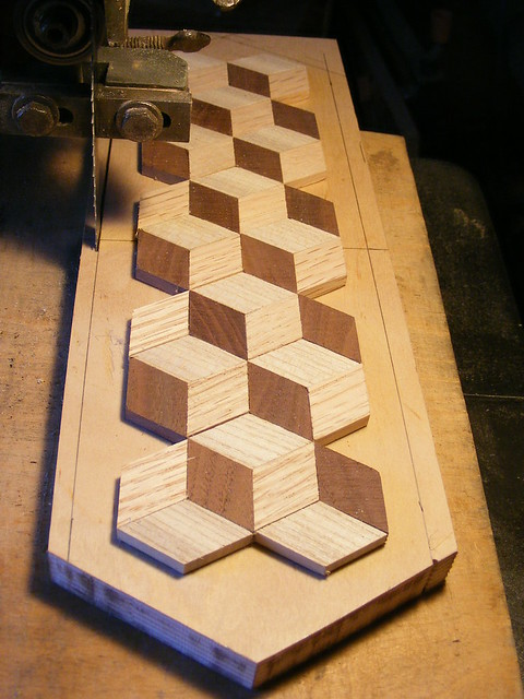 Making a Tumbling Block Cribbage Board #13