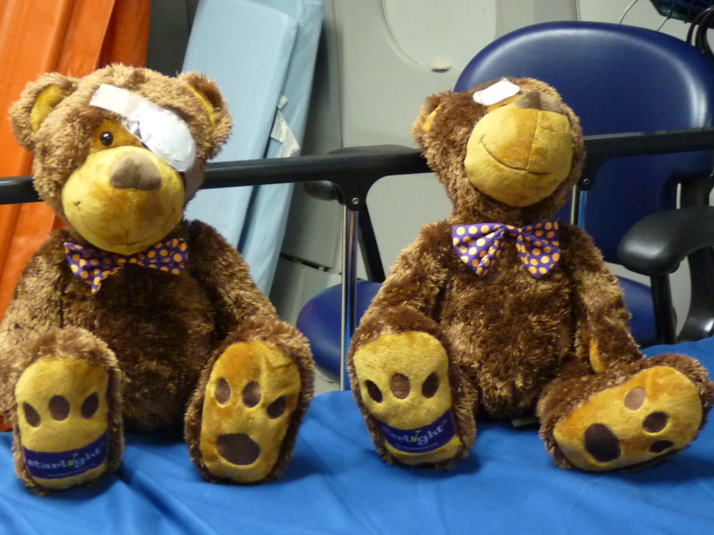 free bear for each child patient!