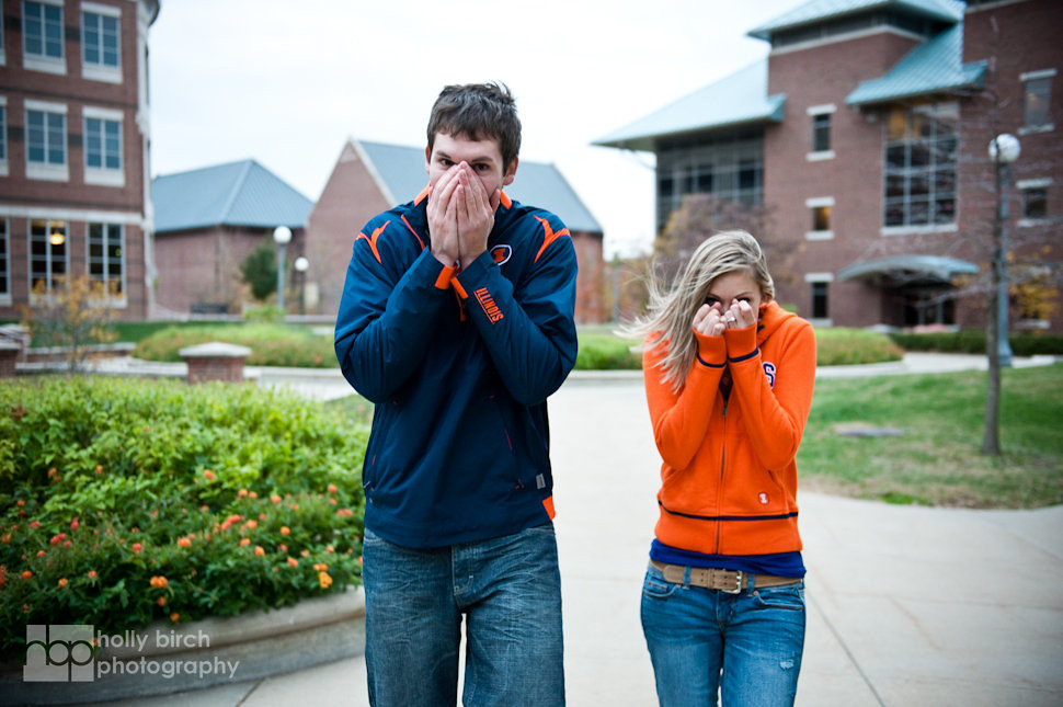 Danielle + Ben | University of Illinois engagement session