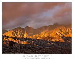 First Light Above the Buttermilks, Autumn Storm (G Dan Mitchell) Tags: sierra nevada autumn fall califoria usa northamerica mountain range eastern escarpment peaks mount humphreys buttermilks hills rocky dawn sunrise season storm light rainbow clouds dark high desert bishop sky stock first california