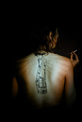 the klimt - saudek crossroad (blackhalos) Tags: female klimt mysterious elegant tatto saudek