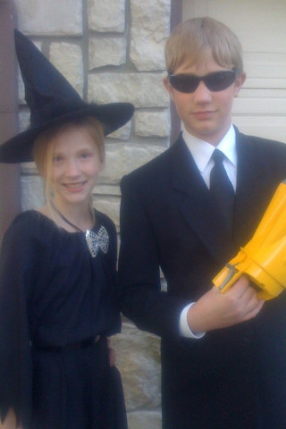 Sarah and Alexander's Halloween costumes