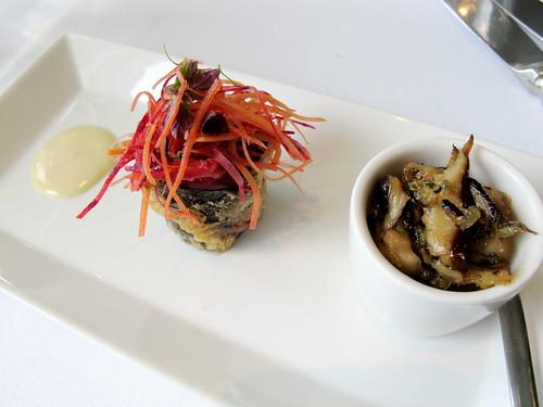 Quail tempura
