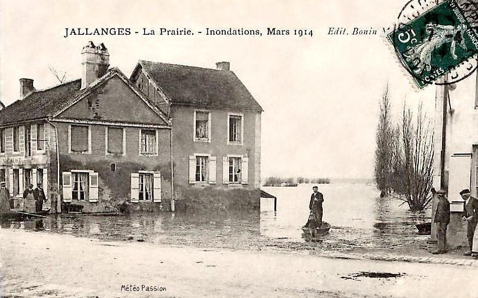 inondations à Jallanges en mars 1914