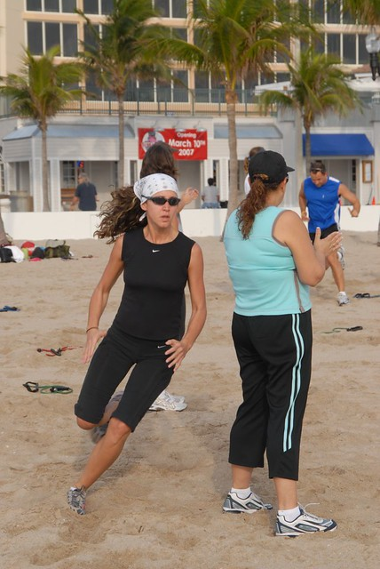 Beach Boot Camp Agility Training Fort Lauderdale Beach by Colonel Bob by Colonel Bob