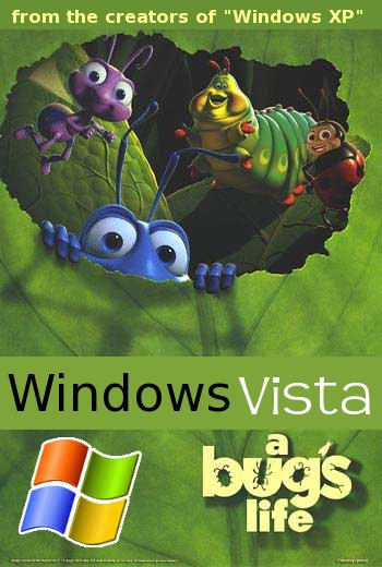 Windows Vista: A bug's life