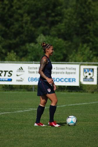 Natasha Kai on the ball .