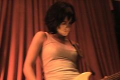 Luisa Micheletti (Ana Luz) Tags: show light shadow brazil portrait people music rock night dark concert bass live sãopaulo stage band vj mtv cb luisa fantasmina