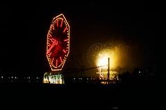 Fireworks (erametta) Tags: red color film night newjersey jerseycity fireworks explosion nj 4th macys july4th 2007 1125 800iso colgateclock
