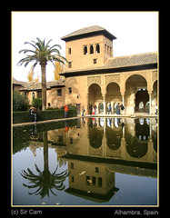 Spain: The Alhambra (Sir Cam) Tags: reflection garden spain andalucia espana alhambra granada moors muslims islamic thealhambra flickrsbest porticodelpartal anawesomeshot impressedbeauty aplusphoto wowiekazowie alandulus theperfectphotographer