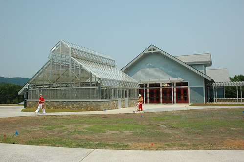 Baker Exhibit Center Greenhouse and Upper Entrance