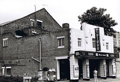 87 Walthamstow Dominion 1 (stagedoor) Tags: uk england copyright cinema building london architecture theater theatre olympus scanned bingo mecca walthamstow dominion greaterlondon