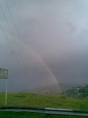 Doble Arcoiris (juanfer2k) Tags: cameraphone sol rain cali arcoiris lluvia rainbow carretera doublerainbow doblearcoiris