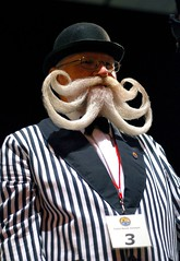 Partial Beard Freestyle (wsogmm) Tags: uk hairy seaside brighton beards surreal moustache facialhair 2007 stripy wbmc worldbeardandmoustachechampionships upcoming:event=150353 willichevalier