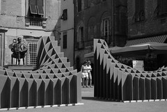 Surface (Richard Sweeney) Tags: italy sculpture lucca surface cardboard piazza cittadella puccini publicsculpture richardsweeney sliceform cartasia