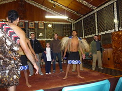 The Maorie men teach our guys some traditional dance steps