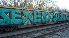 CIMG0046 (Making Stuff Blog) Tags: trains bnsf boxcarart fr8trains texasgraff texasbenching texasfr8s texasgraffitifreighttrains goldenwestservicefr8s