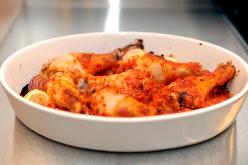 harissa-roasted chicken