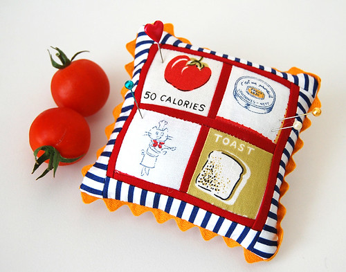 Pincushion for my friend who grows the best tomatoes
