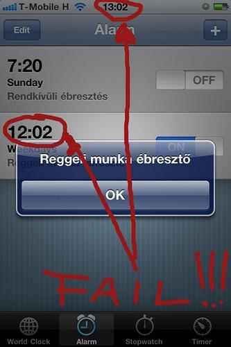 iOS 4.1 ébresztő FAIL