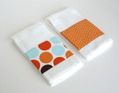 Riley Blake burp cloths