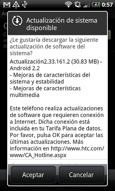 actualizacion HTC Desire