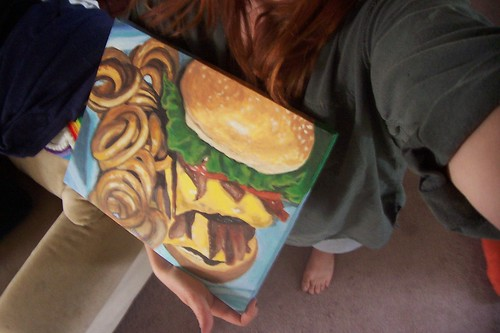 hamburger painting