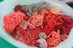 Lana teñida con Cochinilla de Lanzarote Dic10 (lanzarote rural) Tags: naturaleza color lana rural natural lanzarote colores tinte ovillo cochinilla naturaldye teñir dactylopius