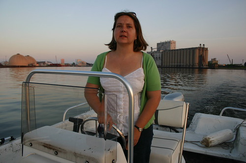 Cheryl Nenn captains the Riverkeeper Boat