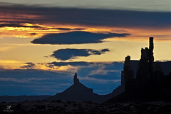 For You Blue (Jack Maloney) Tags: blue silhouette sunrise gold utah butte monumentvalley jackmaloney