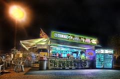 Terminal Hot Dog Stand (DARREN ST0NE) Tags: dog canada hot 20d night canon eos stand interesting bc nocturnal britishcolumbia victoria terminal explore hdr explored darrenstone lightgazer