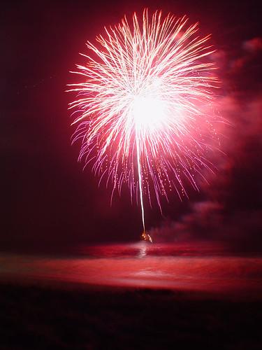 4th of July Fireworks in Malibu 2006