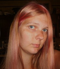 Why do I keep doing this? (Little Spooks) Tags: pink woman me girl lady hair dawn amber colorful dye