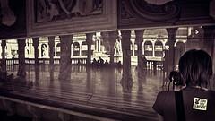 Guardate bene... (pierofix) Tags: city girls urban reflection art architecture back punk flickr afternoon shadows arte columns violet style meeting ombre 169 viola citt schiena colonne dado riflesso cresta udine ragazze raduno pomeriggio loggiadellionello sagome piazzalibert udfaccioni udcitt udgente
