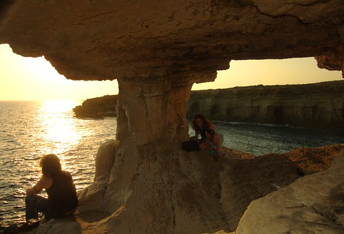 couple at the seacaves, Protaras Area, Cyprus