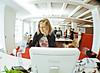 bureau rouge (frischmilch) Tags: desktop new people white work germany design moving desk bureau room cologne indoor fisheye agency workplace interiordesign nordrheinwestfalen outterspace antwerpes doccheck doccheckag