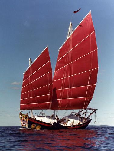 sailboat junk chinese chinesejunk satu корабль китай lugsail tomcolvin junkrig джонка
