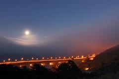 Full Moon over the Fog (Tyler Westcott) Tags: sanfrancisco california longexposure fog fullmoon explore goldengatebridge nikond40