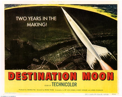 """Destination Moon"" lobby card 2 (markbult) Tags: moon art film illustration space retro movieposter movies rockets technicolor filmposter 1950 heinlein lobbycard retroart robertaheinlein destinationmoon georgepal robertheinlein oldtimemovies irvingpichel"